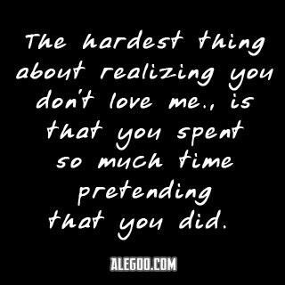 Pretending and lying about loving someone is a backstab from the person you most trusted