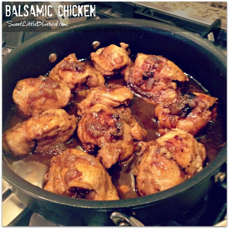 BALSAMIC CHICKEN -  Absolutely delicious and so simple to make!  |  SweetLittleBluebird.com