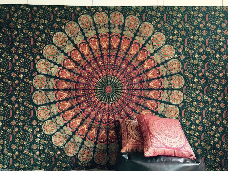 Indian Tapestry Wall Hanging Mandala Throw Hippie Gypsy Cover Bohemian Dorm Deco