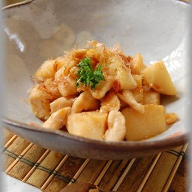 旬レシピ☆たけのこと鶏肉の味噌バター照り焼