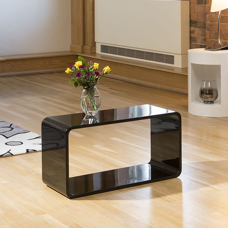 High Gloss Black Stackable Storage and Design Solutions.