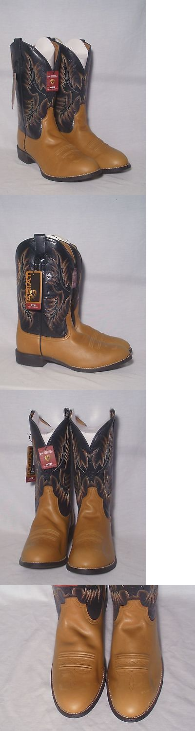 Western Boots 159002: New In Box Ariat Heritage Stockman Mens Western Boot Size 12Ee BUY IT NOW ONLY: $109.99