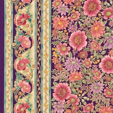 Robert Kaufman Fabrics: APTM-15406-238 GARDEN by Peggy Toole from Tuscan Wildflower 3