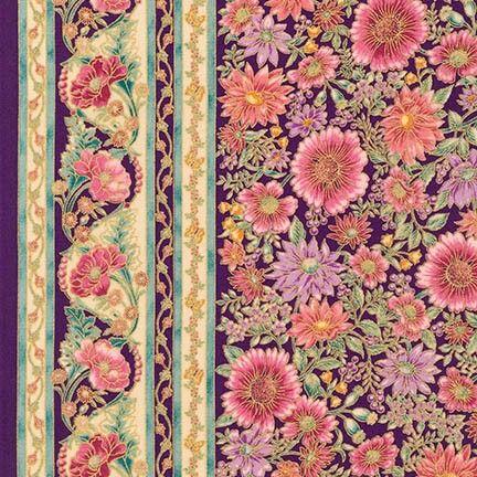 Robert Kaufman Fabrics: APTM-15406-238 GARDEN by Peggy Toole from Tuscan Wildflower 3