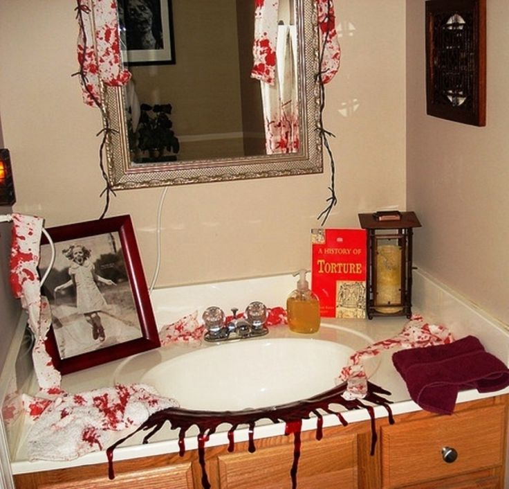 pinterest'teki 25'den fazla en iyi halloween bathroom decorations