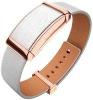 Sona leather and rose gold stainless steel fitness tracker band. Now this I would actually wear!