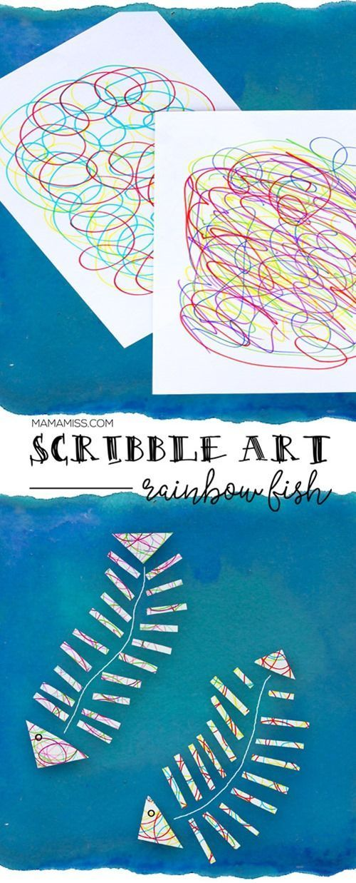 Scribble Drawing Process : Best images about rainbow fish activities on pinterest