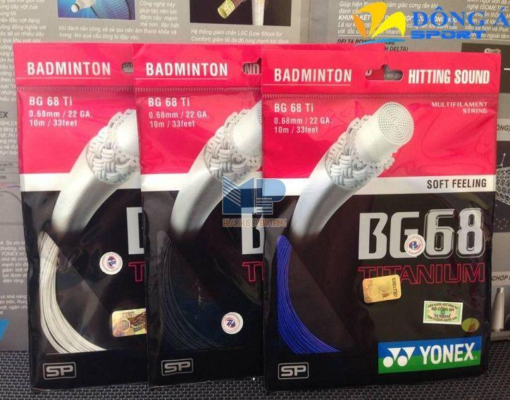 Dây đan vợt cầu lông Yonex BG 68 Ti được làm với một mật độ cao Titanium hydride Coating cung cấp lực đẩy cao hơn và độ bền hơn 10%  >> Liên hệ mua ngay: 0976.066.222