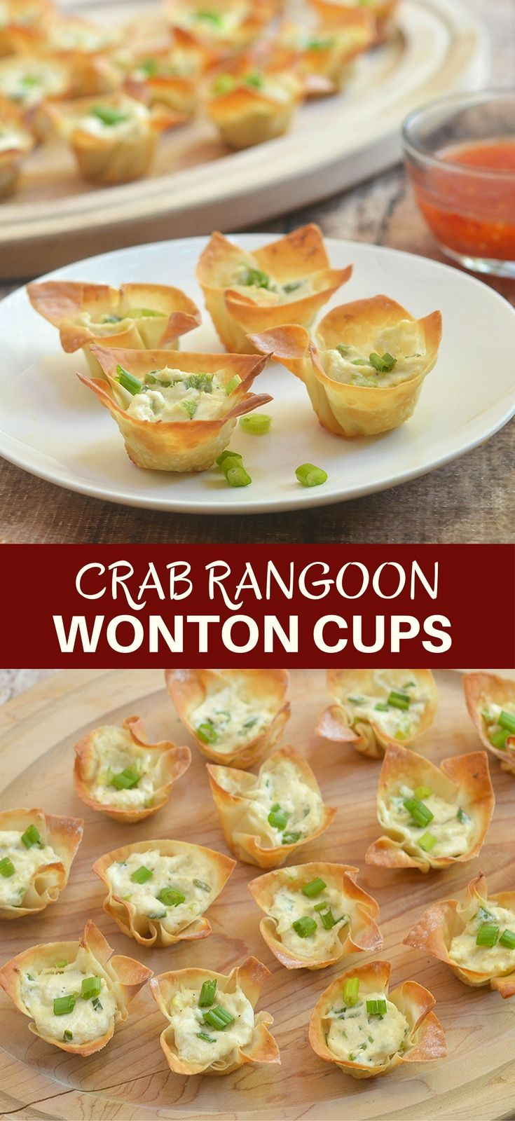 Crab Rangoon Wonton Cups with all the flavors of your favorite Chinese appetizer but baked for less guilt snacking. Crispy, creamy and tasty, they're a guaranteed party hit!