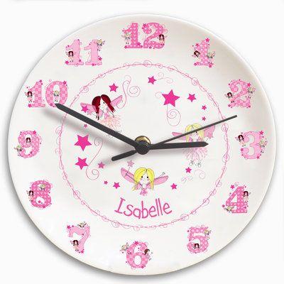 Personalised Bone China Fairy Wall Clock from Treasured Gifts UK.