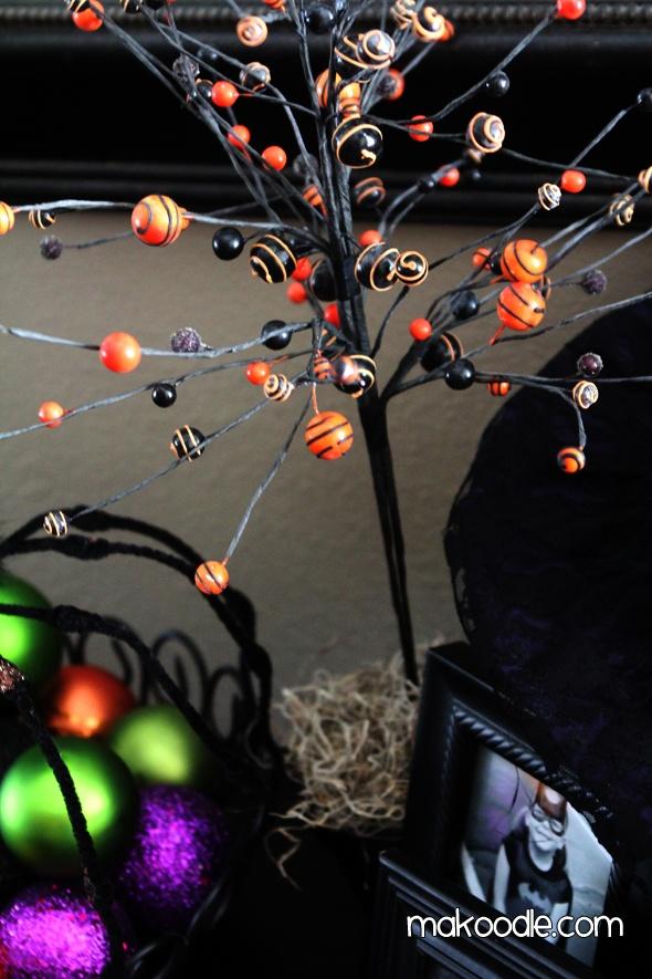diy halloween tree decoration