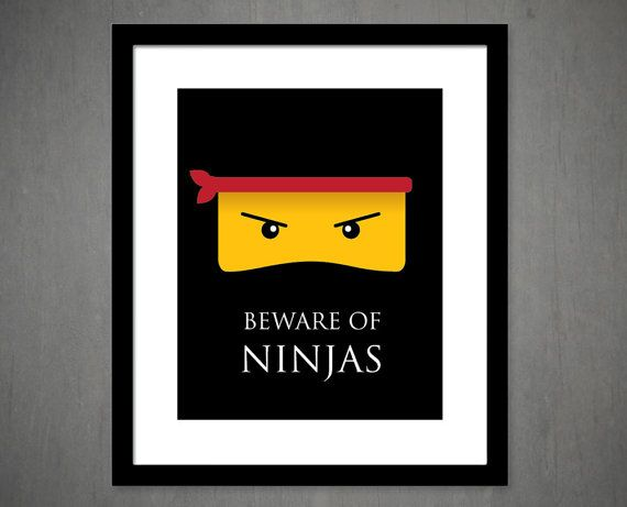 Ninja Art Print - 8x10 - Ninja art- kids wall decor - great for kids room or playroom on Etsy, £9.06