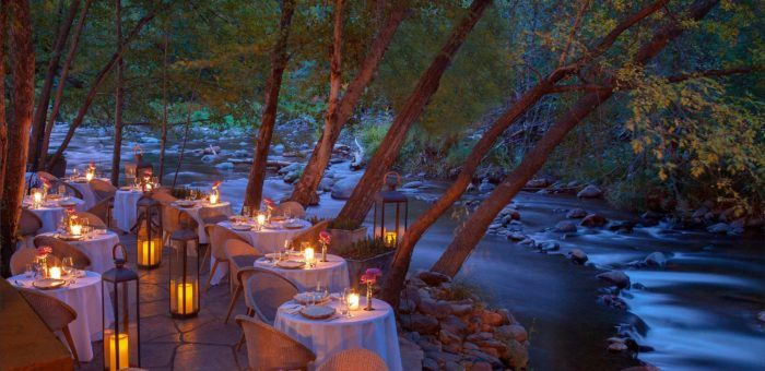 Part of the fancy L'Auberge de Sedona hotel that also sits on the banks of Oak Creek, Cress offers New American/French cuisine with a fantastic view of the creek. Who wouldn't want to enjoy a romantic dinner in this setting? Address: 301 Little Ln, Sedona