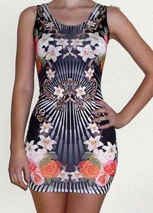 Kup mój przedmiot na #vintedpl http://www.vinted.pl/damska-odziez/krotkie-sukienki/10195337-kolorowa-czarna-sukienka-mini