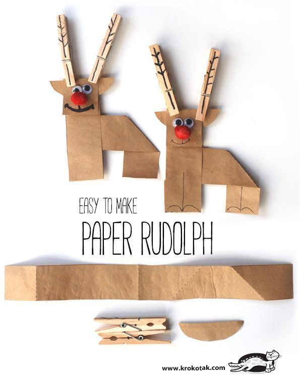 PAPER RUDOLPH – EASY TO MAKE