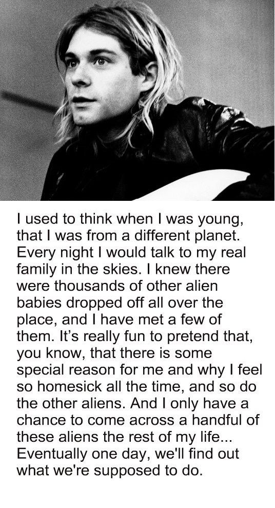 Kurt Cobain interview, childhood