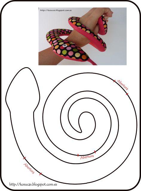 Eu Amo Artesanato: Cobra com molde                                                                                                                                                      Más