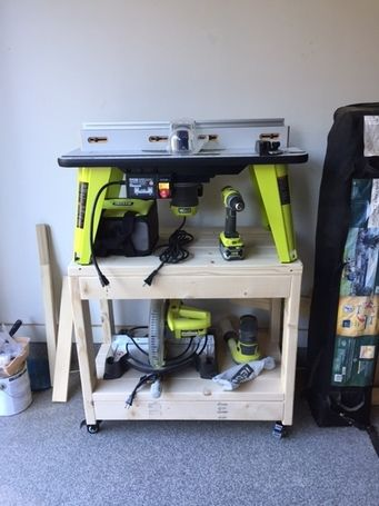Nice Router Table Cart