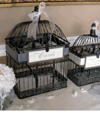 Found a set of two bird cages for a steal at Save-on-crafts.  My inner DIY bride is coming out.