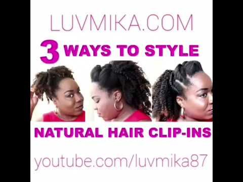 3 ways to style Xotica Hair's natural hair clip in extensions - YouTube