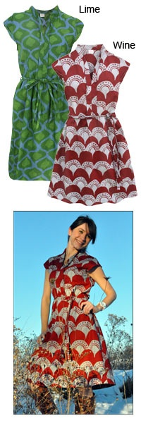 I love these and I love that they are retro!!!      Handmade Cotton Batik Dress - Retro at The Autism Site
