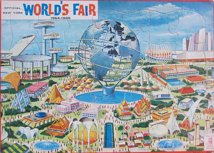 Milton Bradley 39 s Official 1964 65 New York World 39 s Fair Puzzle Cone