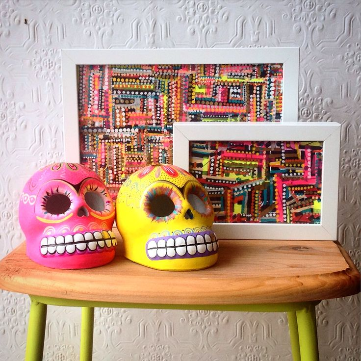 Mexican sugar skulls and artwork from a Melbourne artist - makes me happy !!