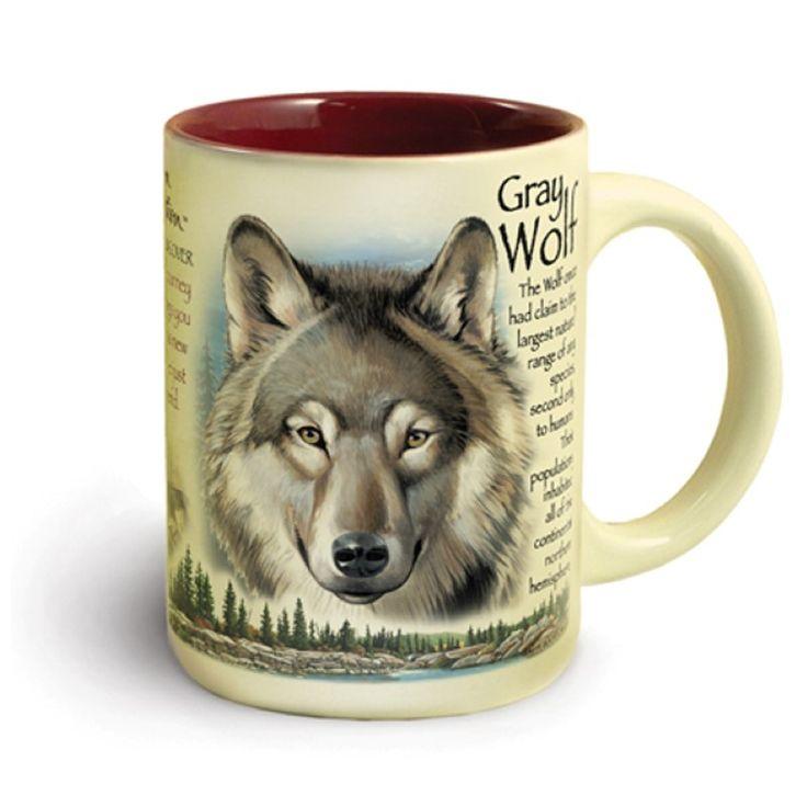 American Expedition Wildlife Ceramic Mug 16 oz - Wolf