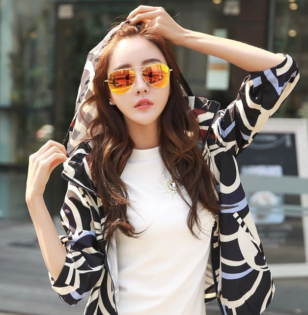 StyleOnMe_Aviator Colored Lens Sunglasses #reflective #mirrored #lens #chic #stylish #koreanfashion