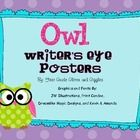 Whooo has a writer's eye?? These owl themed Writer's Eye posters, by First Grade Glitter and Giggles, are a wonderful visual to display in your cla...