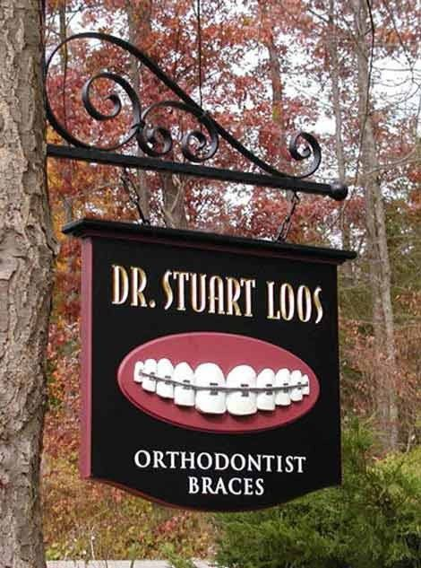 Dr. Stuart Loos Dental Sign | Danthonia Designs