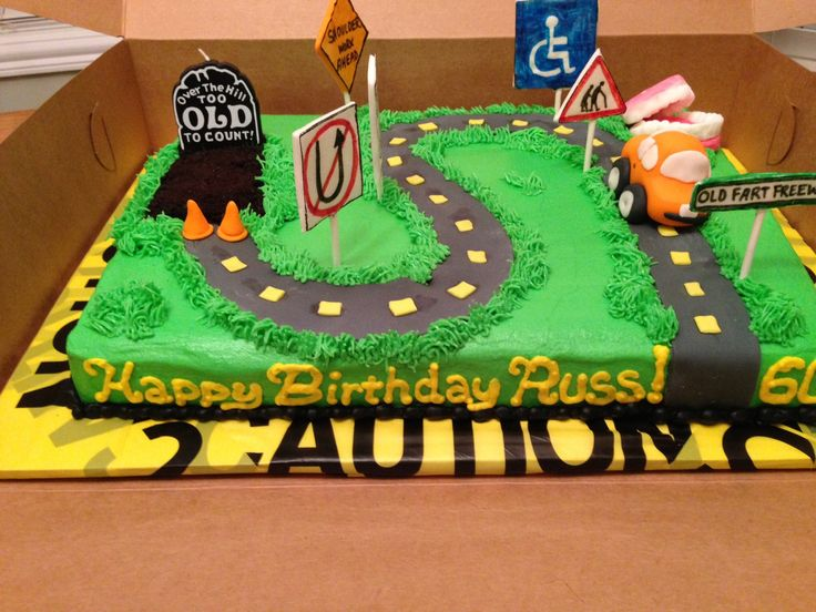 Over The Hill 60th Birthday Cake Cakes Pinterest