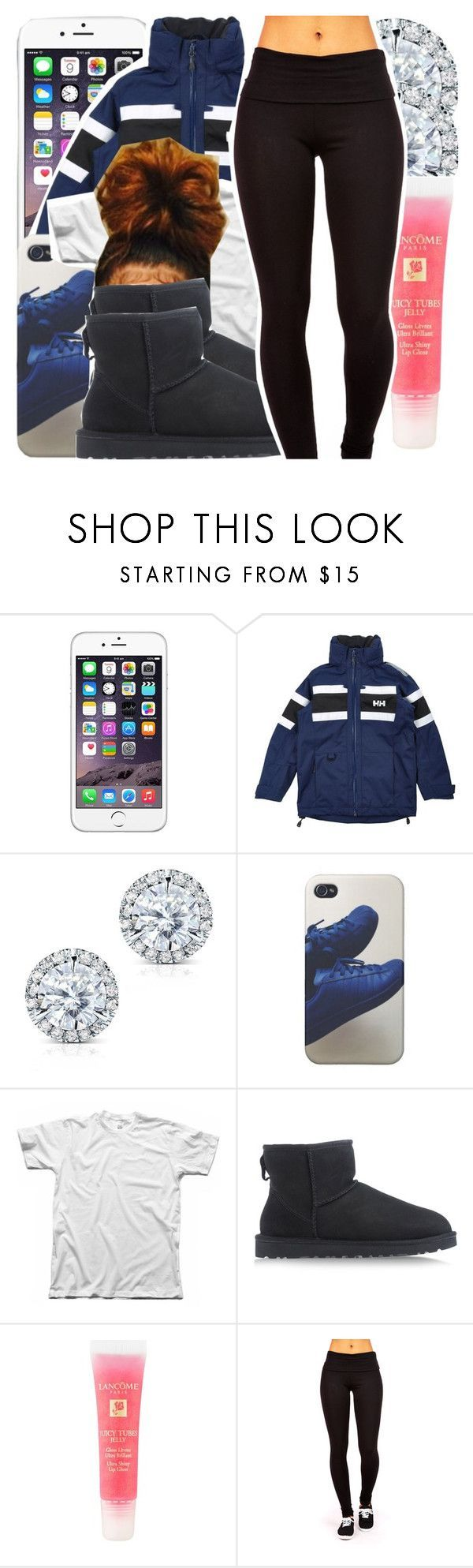 """"" by missy143lol ❤ liked on Polyvore featuring Helly Hansen, Kobelli, UGG Australia and Lancôme"