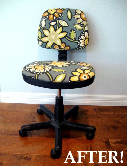 Easy and fun way to spruce a staid swivel chair
