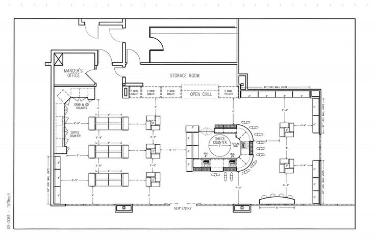 Retail Store Floor Plan With Dimensions Google Search
