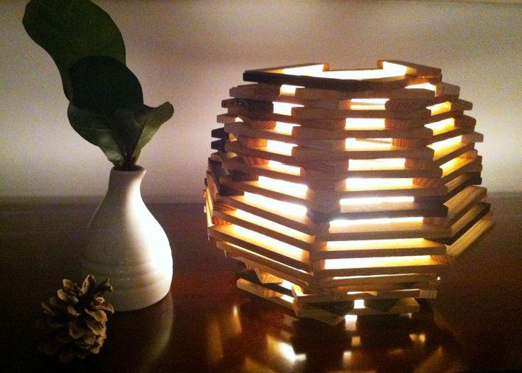 kapla blocks lamp my son made