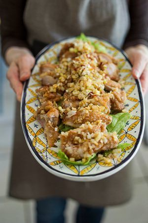 Harumi Kurihara's nostalgic chicken with leeks recipe | A Taste of Home | Life and style | The Guardian