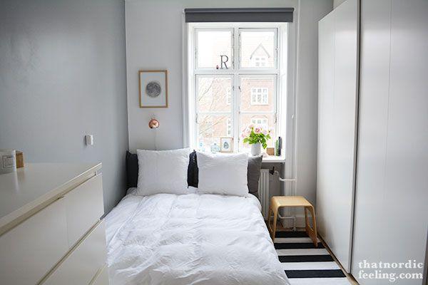 Bedroom inspiration, nordic feeling bedroom, moon picture