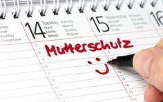 Kalender mit Eintrag Mutterschutz