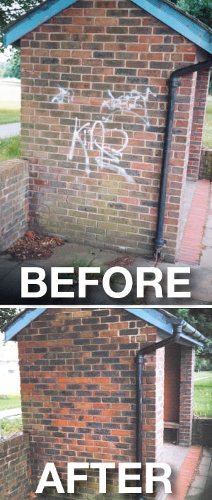 Graffiti Removal From Chichester City Centre.