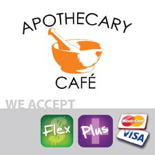 What exactly does Apothecary mean? This cafe is located in the pharmacy area of UK campus. The medicinal looking logo is a great fit for the pharmaceutical theme. Not offering Wildcat Deals will hurt this business as college kids are cheap, why isn't it an option?