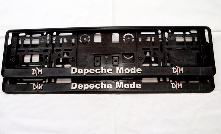 2 pc of plate holder with new conception and 3D logo / Depeche Mode