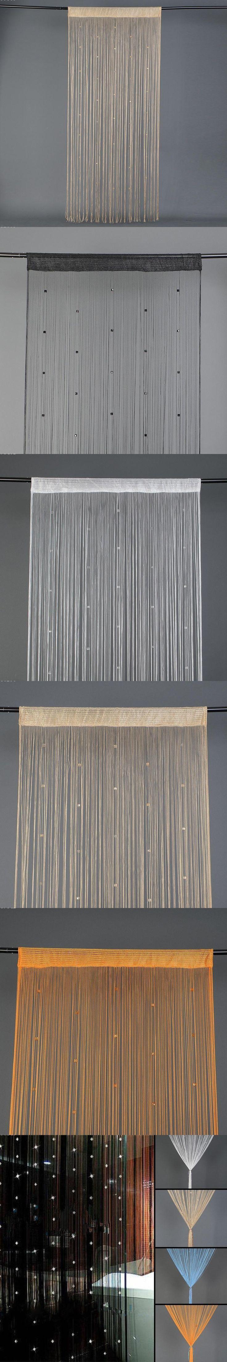 2m*1m Elegant Low-elastic yarn Beaded String Curtain Door Window Curtain Crystal beaded curtain Home decoration L35