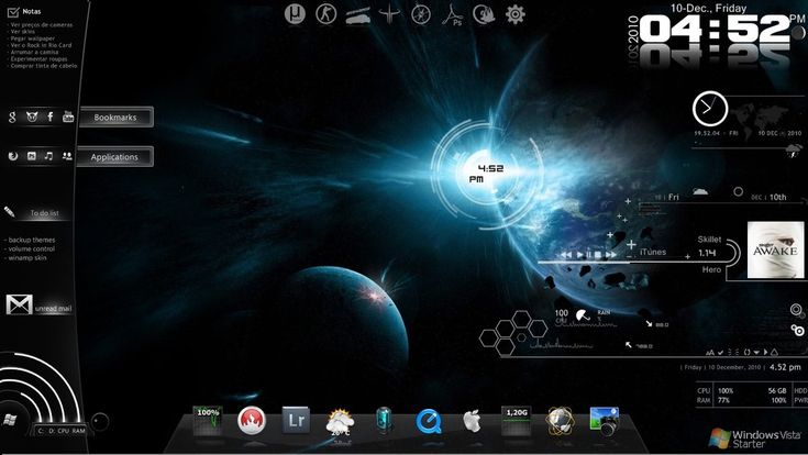 Rainmeter space by naahburack everything i like for Bureau windows 7 rainmeter