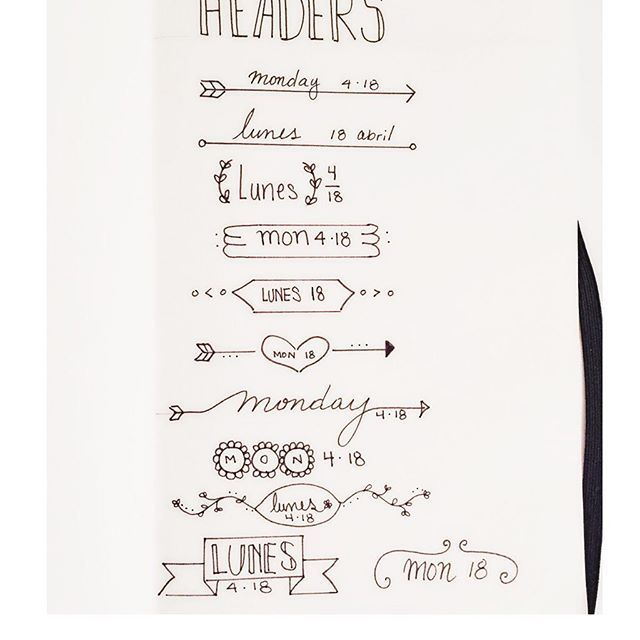 Doodles of some headers for my bullet journal  #bujojunkies #bulletjournal #bujo #mondayapril18 #doodles #headers