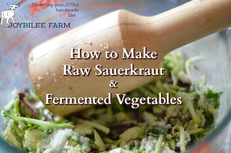 how to make sauerkraut candida