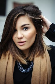 This dark balayage bob looks a lot like another pin I have this board. I really like it, apparently.
