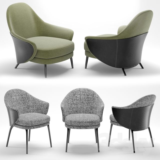 3d Models Arm Chair Minotti Angie By Gamfratesi Design Set Armchair Decor Armchair Furniture Chair Design