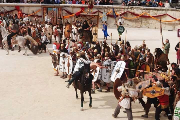 Historical reconstruction - NIMES 2015 Les Grands Jeux Romains - Battle of Zama