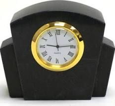 Nature Home Decor Black Marble Clock
